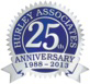 Hurley Associates 25th Anniversary seal